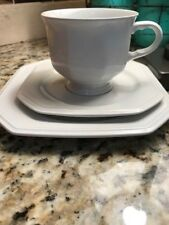 MIKASA CONTINENTAL WHITE F3000 DESERT PLATE COFFEE CUP AND SAUCER