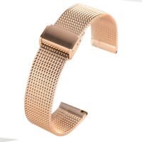18/20/22MM Mesh Stainless Steel Milanese Watch Band Link Bracelet Wrist Straps