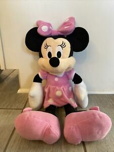 "Minnie Mouse DISNEY 20"" Plush Stuffed Animal PINK Dress"