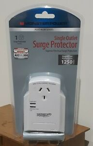 Monster Surge Protector - Single Outlet 10A 2400W Surge Protected Power Plug