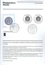 ITALIE 2006 COMPAGNIE' DALMATIEN BULLETIN COMPLET DE TIMBRES ANNULATION FDC