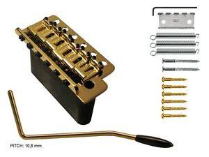 Wilkinson Tremolo massiv block gold WVCG gesenkte & polierte Saitendurchführung