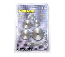 Toolzone 6pc hss acier haute vitesse scies Disques Coupe Coupé disques adapte plupart