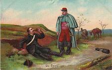 Carte Postale Fantaisie Ancienne   Militaire  Un Secours 1912