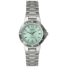 Casio LTP1177A-3A Ladies Stainless Steel Round Casual Dress Watch Green Dial NEW