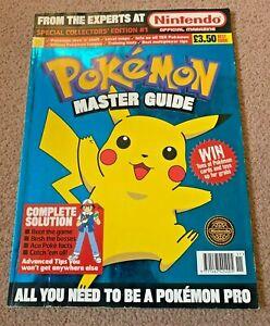 Pokemon Master Guide Original 1999 MEGA RARE FIRST EDITION SUPERB CONDITION!!