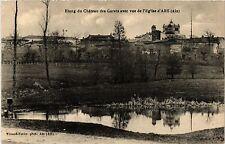 CPA  Ars - Etang du Chateau des Garets avec vue de l'Eglise  (382673)