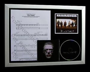 RAMMSTEIN Du Hast LIMITED TOP QUALITY MUSIC FRAMED CD DISPLAY+FAST GLOBAL SHIP