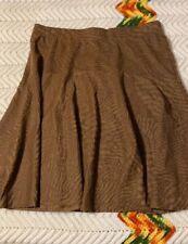 NWT MELISSA PAIGE Sz S Brown Printed Skirt, Elastic Waist, Flare