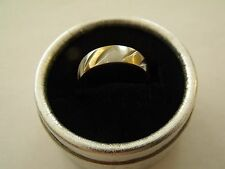 BAGUE RING ANELLO 2 OR GOLD FILLED RING + boite cadeau T58 /New