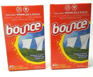 Bounce Fabric Softener Sheets, Outdoor Fresh 40 ea (Pack of 2)