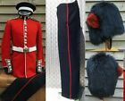 Post WW British Coldstream Guards Complete Uniform Tunic Bearskin Belt Hat Plume