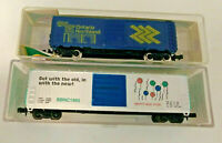 N scale 2 Car Lot  Bev Bel Happy New Year boxcar and  Ontario Northland box car
