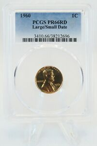 1960-P PCGS PR66RD Large/Small Date Lincoln Cent Proof 1C *RARE*