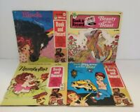 Record and Book Lot of 4 Vintage Peter Pan Records Beauty and the Beast