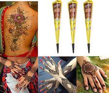 3x Henna Paste Kegel Golecha Kastanienbraun 75g Klinisch getestet Mehndi Indien