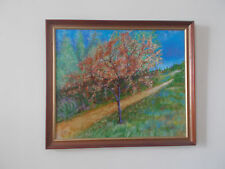 Pintura al óleo de gran tamaño floreciendo Árbol En Marco De Madera Studio ajustada 2003