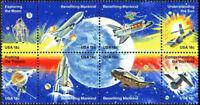1912-1919 - 18 Cent Space Achievement 1981 Se-Tenant Block Of 8 Mint NH Nasa