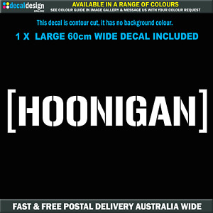 HOONIGAN STICKER 600mm KEN BLOCK Suit JDM EDM Rally TURBO DRIFT #H004