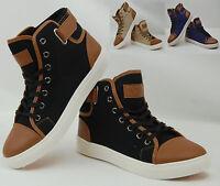 Chaussures baskets homme Montantes / Noire Beige ou bleue / 40 41 42 43 44 45