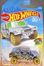 2018 Hot Wheels #250 Dino Riders 5/5 HUMVEE Blue Brown Whls w/Yellow Beadloc Rim