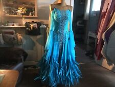 "Ballroom Competition DANCE dress ""Turquoise waterfall"""