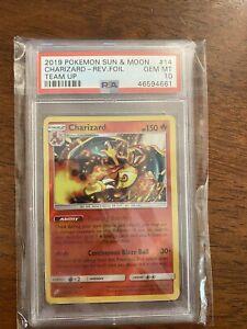 Pokemon Team Up Charizard Reverse Foil Card 14/181 GEM MINT PSA 10