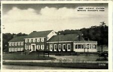 """1930'S. """"ESSO"""" MIDWAY STATION. HOWARD JOHNSON'S FOOD. PA TURNPIKE. POSTCARD QQ7"""