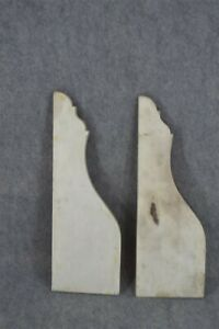 old early period brackets shelf architectural marble pair 18 in. 19th original