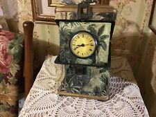 Quartz Battery Powered Clock In a Box Decoupage Maps & Tropical Theme, Working