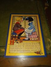 New listing 1995 Mary Engelbreit ink sunrise old friend picture frame wood paper vintage 90s