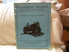 1945 Engineering Bulletin Farm Tractors Booklet by Standard Oil Co Chicago, Ill