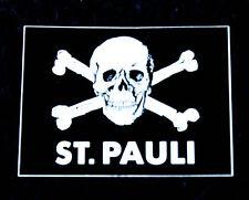 1. FC St. Pauli, Astra Bier, Totenkopfaufkleber, kleine Ausführung, schwarz-weiß
