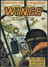 WINGS  COMICS  36  FN/VF/7.0  - Very cool WWII cover on Fiction House from 1943!
