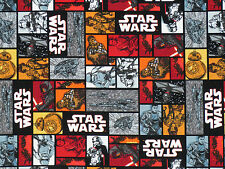 STAR WARS 100% COTTON CAMELOT FABRIC  CHEWBACCA  DARTH VADER  TROOPERS BB-8  BTY