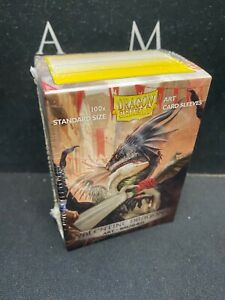 Valentine Dragons Art Brushed - Dragon Shield 100 Standard Sized Card Sleeves