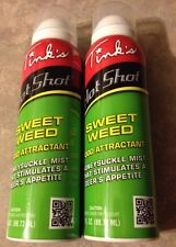 NEW Lot of 2 Tink's Hot Shot Sweet Weed Food Attractant 6oz Total FREE SHIPPING