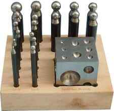 18 pc Doming Block and Punch Set Solid Steel Jewellers Metalworking Tool