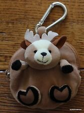 Deer Coin Critter Purse Bag W/Carabineer Clip Cute Whimisical Little Hunter