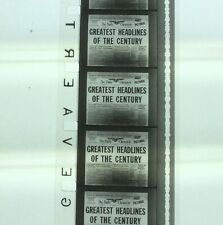 16mm Film **GREATEST HEADLINES OF THE CENTURY** News Parade Pacific WW2,  VGC