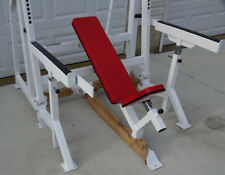 Weight Bench Adjustable Incline Self Spotter & Safety Supports Self Spotter