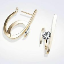 Elegant 18k Gold Plated Hoop Earrings for Women Jewelry Free Shipping A Pair/set