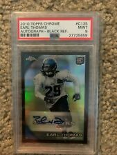 Earl Thomas 2010 Topps Chrome Black Refractor Auto /25 PSA 9 Mint