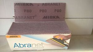 Mirka Abranet 70mm x 198mm Sanding Strips - P80 Boxes of 50 80's
