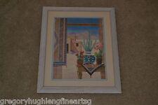 GLORIA ERIKSEN Finest SOUTHWEST Art Piece on eBay Mountains Desert Cactus Frame