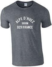 ALPE D'HUEZ CYCLING T-SHIRT, TOUR DE FRANCE, CLASSIC CLIMBS, ALPS, ALL SIZES,