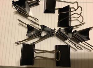 ACCO 12 JUMBO Binder Clips Paper Metal Pack Box Dozen LOOSE Office clips