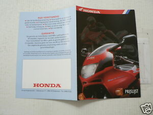 H490 HONDA BROCHURE PRICELIST,PRIJSLIJST1994 DUTCH 2 PAGES SIZE A6 OKTOBER 1994