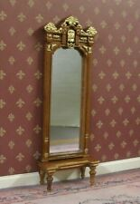 PIER  MIRROR with CONSOLE TABLE  SET ~ BESPAQ ~ Dollhouse ~ 1:12 scale ~Room Box