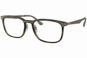 Ray Ban RX7163 5200 Eyeglasses Men's Matte Havana Rayban Optical Frame 55mm